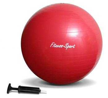 Sport Fitness Gymnastikball Sitz Ball mit Pumpe Größe L 65cm rot - Vorschau 2
