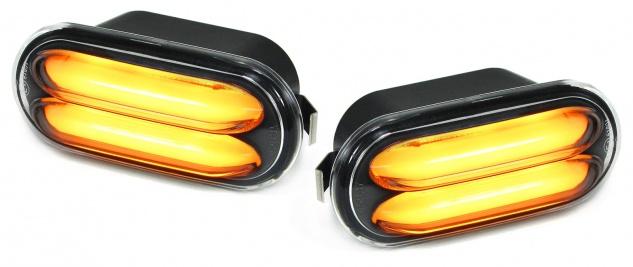 LED Lightbar Seitenblinker schwarz für VW T5 Bus Transporter ab 03