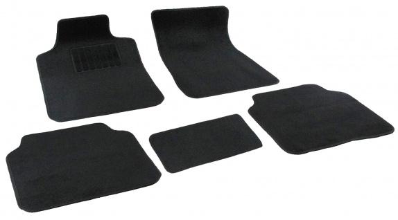 Auto Fußmatten universal mit Matte für Mitteltunnel 5teilig Stoff schwarz