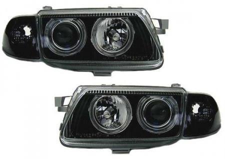 Angel Eyes Scheinwerfer schwarz +Blinker für Opel Astra F ab94