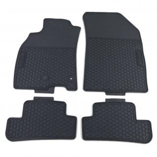 Premium Gummi Fußmatten Set 4-teilig Schwarz für Renault Megane KZ BZ ab 08