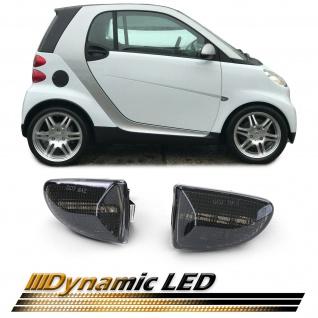 Dynamische LED Seitenblinker Schwarz für Smart Fortwo Cabrio Coupe 451 ab 07