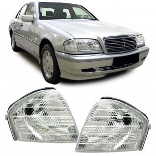 Blinker weiß Paar für Mercedes C Klasse W202 Limousine S202 Kombi 93-01