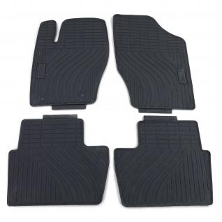 Premium Gummi Fußmatten Set 4-teilig Schwarz für Peugeot 307 3H 3E 3A/C 00-14