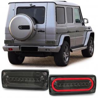 Dynamic LED Lightbar Rückleuchten schwarz für Mercedes G Klasse G Modell W463