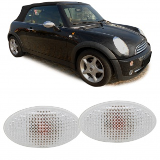 Seitenblinker weiß Paar für Mini Cooper / One / Cabrio R 50 52 53 01-06