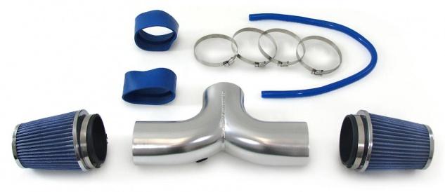 Air Intake Kit + Sport Luftfilter blau für Chevrolet Corvette C5 97-00