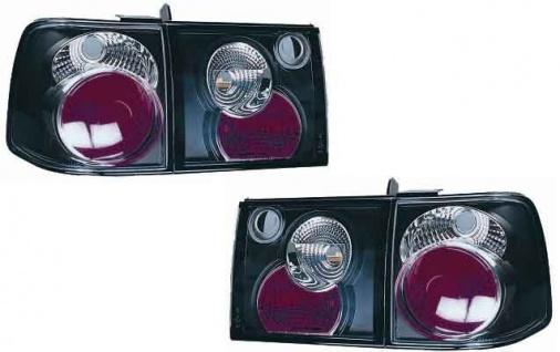 Klarglas Rückleuchten schwarz für VW Passat 35i Limousine 93-97