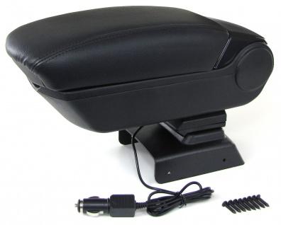 Armlehne Mittelarmlehne klappbar mit Staufach + 2 USB für VW Polo 6R 6C ab 09