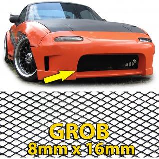 Alu Gitter Renngitter Wabengitter Racegitter 130X30cm schwarz grob
