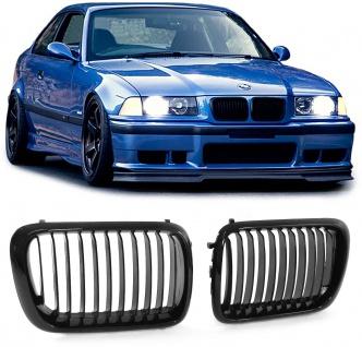 Sport Kühler Grill Nieren schwarz glänzend für BMW 3ER E36 90-96