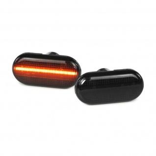 Dynamische LED Seitenblinker schwarz smoke für Smart Fortwo 453 ab 14
