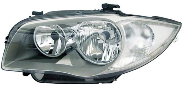 H7 / H7 Scheinwerfer chrom links TYC für BMW 1ER E81 E87 04-06