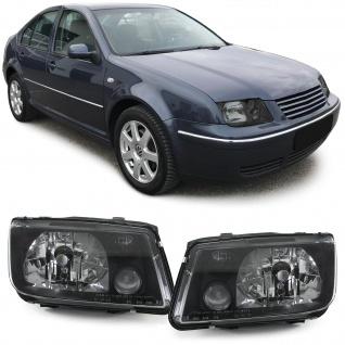Klarglas Scheinwerfer schwarz DEPO für VW Bora 98-05