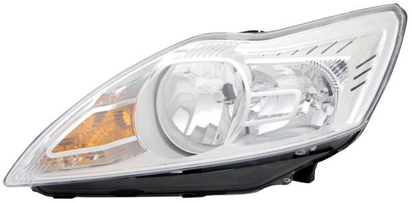 H1 / H7 Scheinwerfer chrom links TYC für Ford Focus II 08-