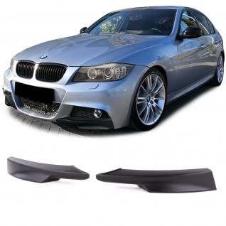Spoiler Ecken Splitter für BMW 3er E90 E91 Limo Touring 08-11 mit M Stoßstange