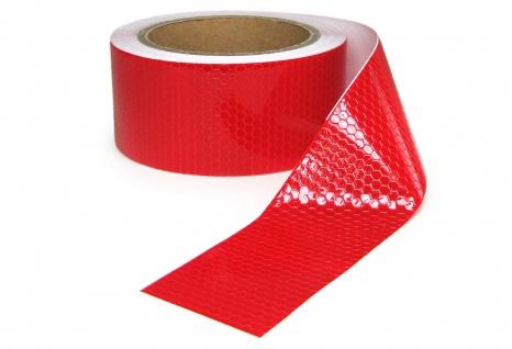 Signalband Markierungsband Absperrband selbstklebend reflektierend rot 10m