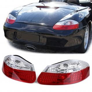 LED Rückleuchten rot klar für Porsche Boxster 986 96-04 - Vorschau 1