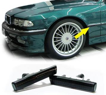 Klarglas Seitenblinker Kristall schwarz für BMW 7er E38 94-01