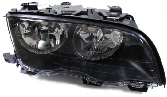 Scheinwerfer H7 H7 schwarz rechts für BMW 3ER E46 Limousine Touring 98-01