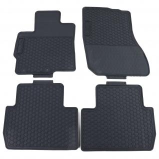 Premium Gummi Fußmatten Set Schwarz für Mitsubishi Outlander GG GF ZJ ab 13