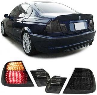 KLARGLAS LED RÜCKLEUCHTEN SCHWARZ SMOKE FÜR BMW 3ER E46 Limousine 98-01