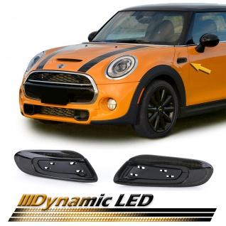 Dynamische LED Seitenblinker Schwarz für Mini Cooper F56 ab 13