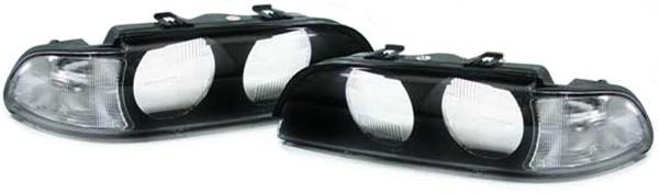 Streuscheiben Scheinwerfergläser Blinker weiß für BMW 5er E39 95-00