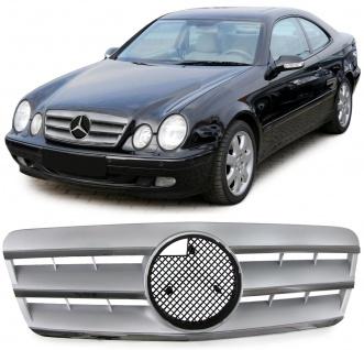 Sport Grill Kühlergrill CL silber chrom für Mercedes CLK W208 Coupe Cabrio 97-02