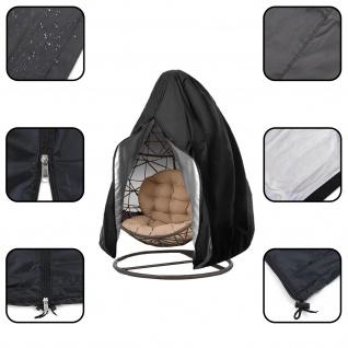 Premium Schutzabdeckung Schutzhülle Cover für Hängesessel Schwarz 230x200cm