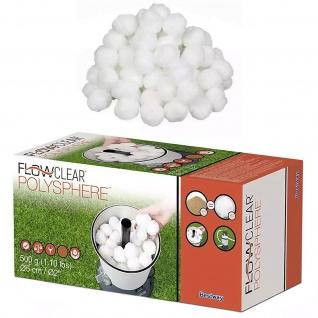 BESTWAY Filterbälle Pool Filtermaterial Filter Balls für Sandfilteranlage 500g