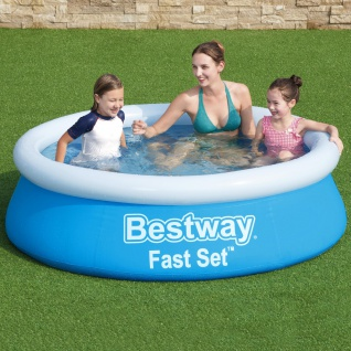 BESTWAY Fast Set Pool Kinderpool Rund Planschbecken Swimmingpool 183x51cm