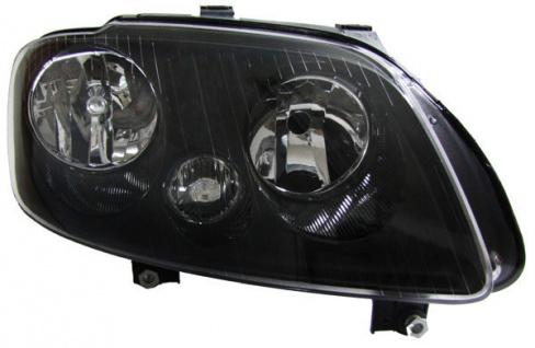 H7 H1 Scheinwerfer schwarz mit Stellmotor rechts für VW Touran 03-06 + Caddy