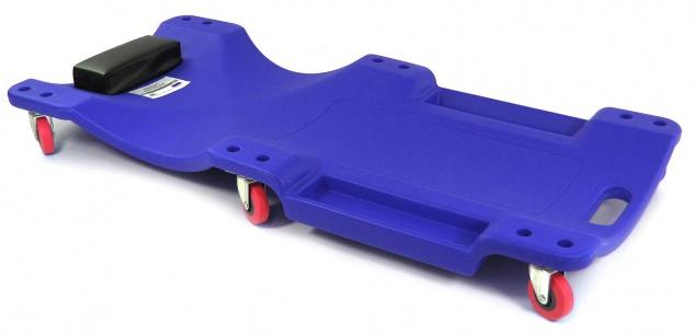 Ramroxx Profi Werkstatt Rollbrett Montageliege mit Ablage 100cm blau schwarz