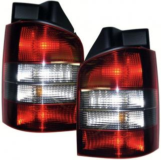 Rückleuchten rot schwarz - Heckklappe für VW T5 Bus + Transporter 03-09