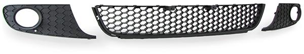 Waben Kühler Grill Stoßstange + Nebelscheinwerfer Blenden für VW Golf 6 1K 08-13 - Vorschau