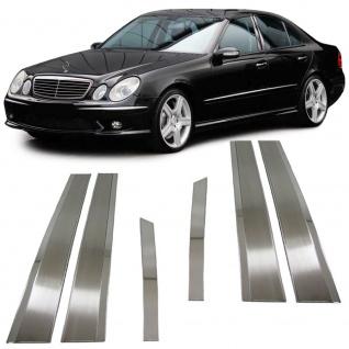 Edelstahl Fensterleisten Türleisten B Säule für Mercedes W211