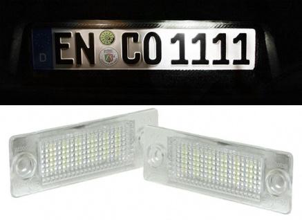 LED Kennzeichenbeleuchtung weiß 6000K für VW Bus T5 Golf Plus Passat Touran
