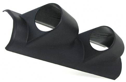 2ER Doppel A Säule Halterung für 52mm Zusatz Instrument schwarz glänzend
