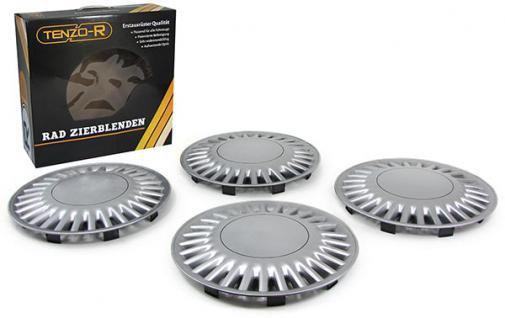 Radkappen Radzierblenden für Stahlfelgen Set Tenzo-R VI 14 Zoll silber - Vorschau 2