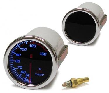 Carparts-Online 11685 /Öldruck Anzeige Zusatz Instrument 52mm black Magic
