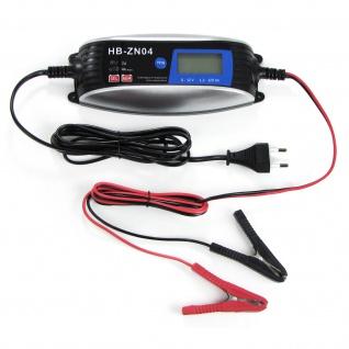 Kfz Motorrad Boot Batterieladegerät Batterieerhaltung 6 12 Volt 1.2-120AH silber