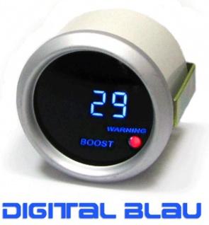 Ladedruck Anzeige Zusatz Instrument 52mm digital Magic blau