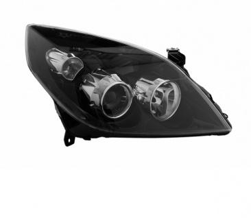 H1 / H7 Scheinwerfer schwarz rechts TYC für Opel Vectra C 05-08