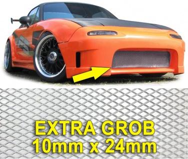 Aluminium Gitter Renngitter Wabengitter Racegitter extra grob 130X30cm silber