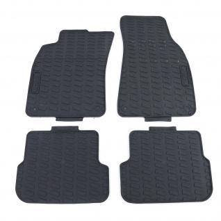 Premium Gummi Fußmatten Set Schwarz für Audi A6 4F C6 Limousine Avant 05-11