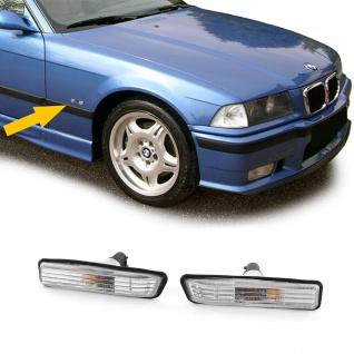 Klarglas Seitenblinker Kristall für BMW 3ER E36 ab 96 + BMW X5 E53