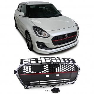 Front Kühlergrill Sport Ausführung schwarz chrom rot für Suzuki Swift AZ ab 17