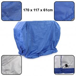 Premium Grillabdeckung Schutzhülle Cover BBQ Grill Schutz Blau L 170x117x61cm