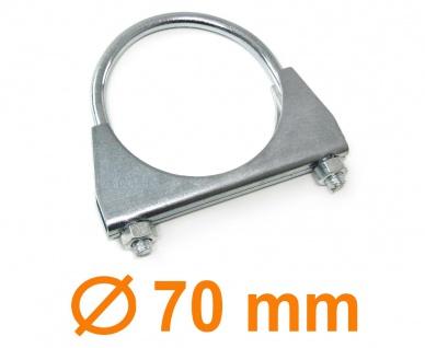 "Auspuff U Bügelschelle Rohrschelle universal 2.75"" 70mm M8 1 Stück"